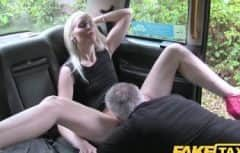 A guy with a big cock licks her pussy
