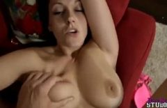 Fat Milf Fucked By A Young Man And Released On Her Pussy