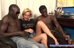 Short Blonde Haircut Made By Two Blacks