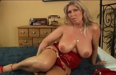 Mature Blonde With Big Tits Sucks Cock And Fucks