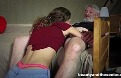 An Old Man Fucks A Teenager Eager For Cock