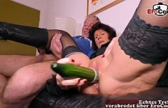 She Fucks Her Big Cock With A Big, Thick Cucumber