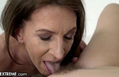 A Woman Gives Tongue In The Ass To An Older Man And Good At Sex