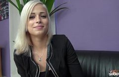Long-legged Blonde Fucked At A Casting For Models