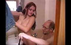 Bald Hungarian With Glasses Fucked In The Bathroom By A Romanian Gypsy