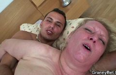 Fat Grandmother With Big Tits And Let Fucked By Someone 20 Years Younger Than Her