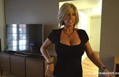 Blonde Milf With Beautiful Breasts Fucked In The Hotel Room