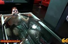 Redhead Fucked In All Holes And Filled With Free And Pissed