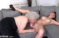 The 70-year-old Babuta Licks Her Young Niece In The Pussy