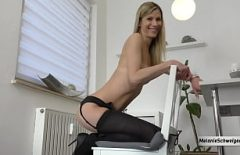 Sex With An Escort Who Is Fucked On A Chair