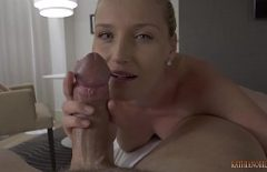 The First Sexual Experience With His Sister Who Takes His Cock To Suck It And He Fucks Her