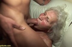 The Oldest Woman Gets Horny In Her Nephew's Dick