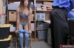 The Employee Put In The Warehouse By The Security Man To Undress