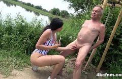 Daddy Fucks A Gypsy Near His Mistress's Country Lake