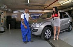 He Takes His Car To Repair And Gets A Dick In His Pussy