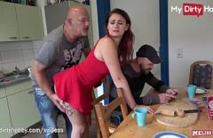 The Woman Who Fucks Hard With Her Husband And Lover With A Big Cock
