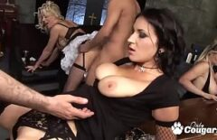 Group Sex At A Beauty Salon Where There Are Many Whores